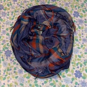 Multicolor Plaid Blanked Scarf